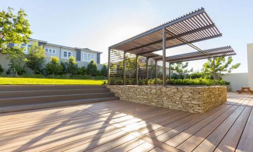 House Dreyer Composite decking board composite cladding Pergolas Apex4